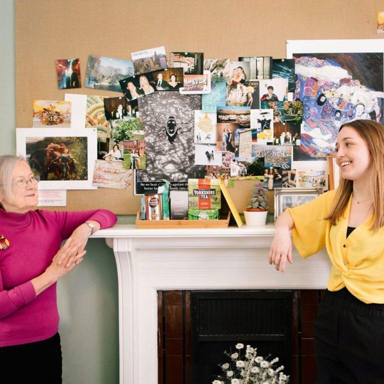 Brenda Hale and Maisie Muir