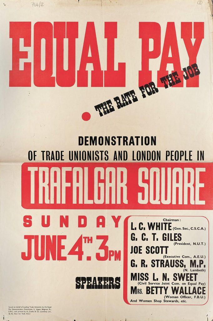 Poster, Equal Pay demonstration.