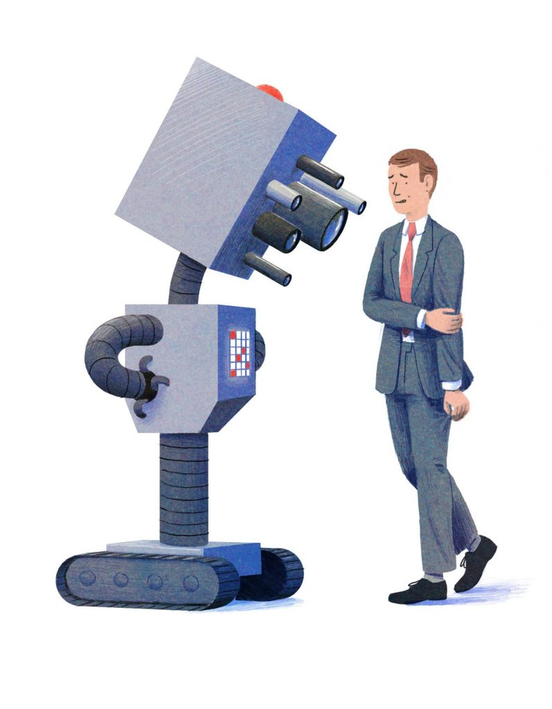 Robot and person