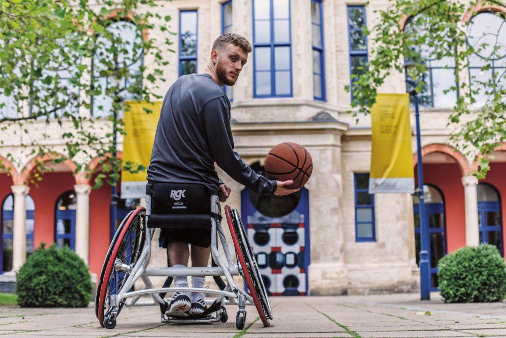 Wheelchair basketballer