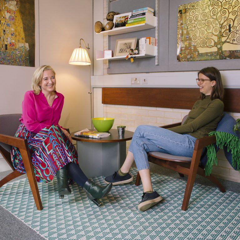 Josie Rourke and Annabel van Daalen