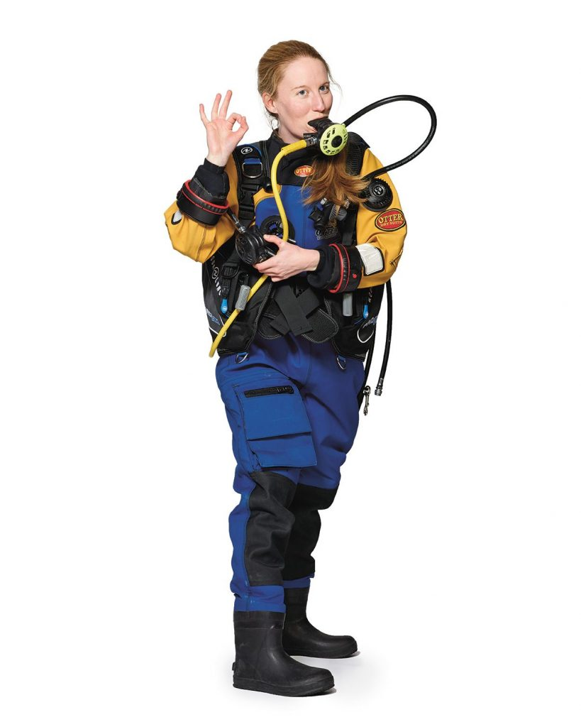 Student in snorkelling equipment