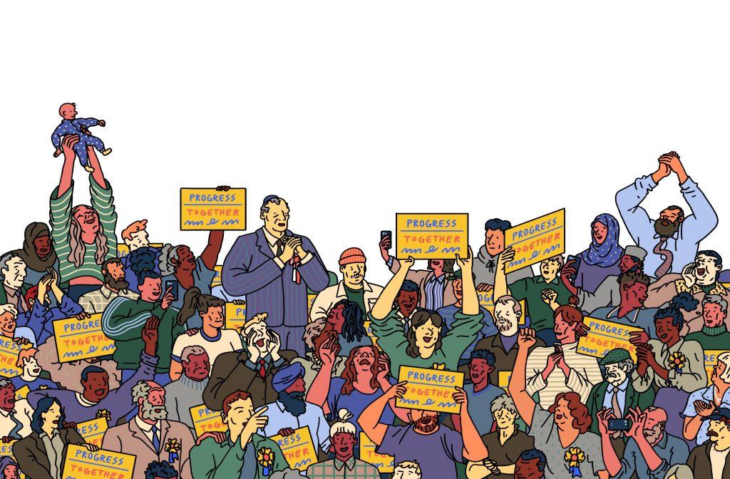 Political crowd