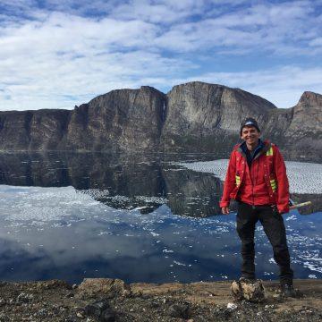 Dr Weller in Arctic