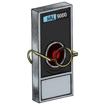 HAL 9000 with glasses on