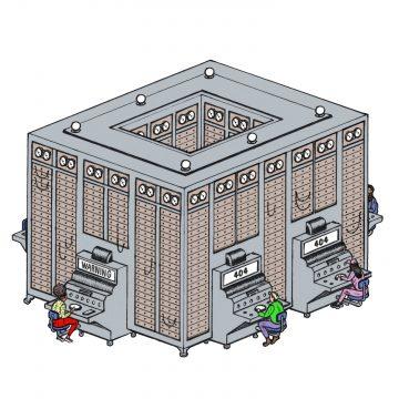 Multivac, a massive government-run mainframe computer