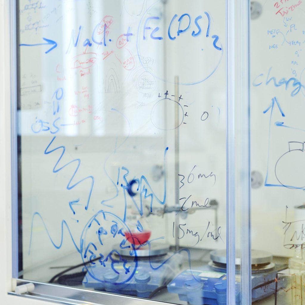 Writing on lab glass