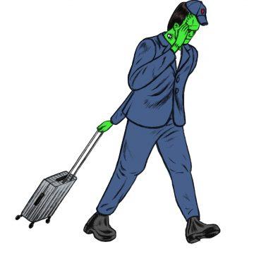 Frankenstein's monster wheeling suitcase