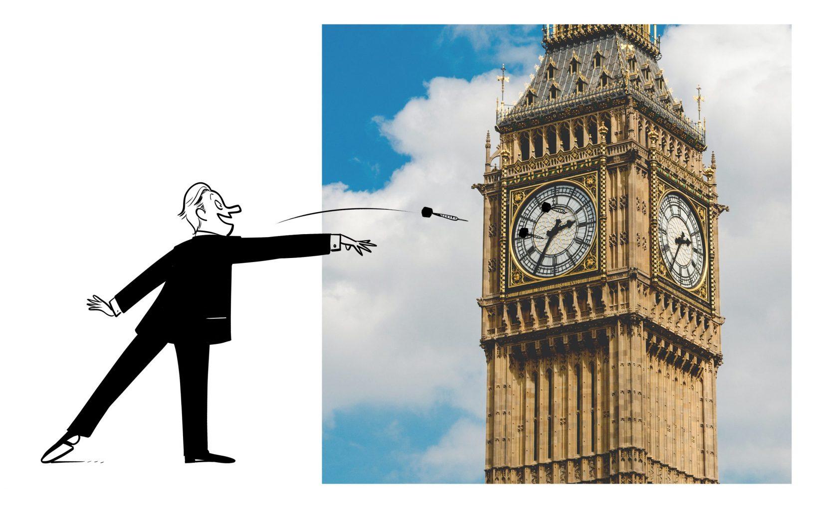 Using Big Ben as darts board