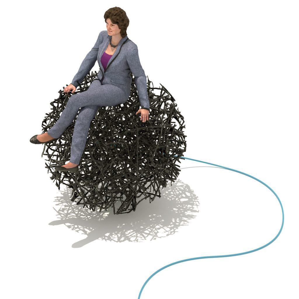 Professor Rebecca Fitzgerald sitting on cytosponge