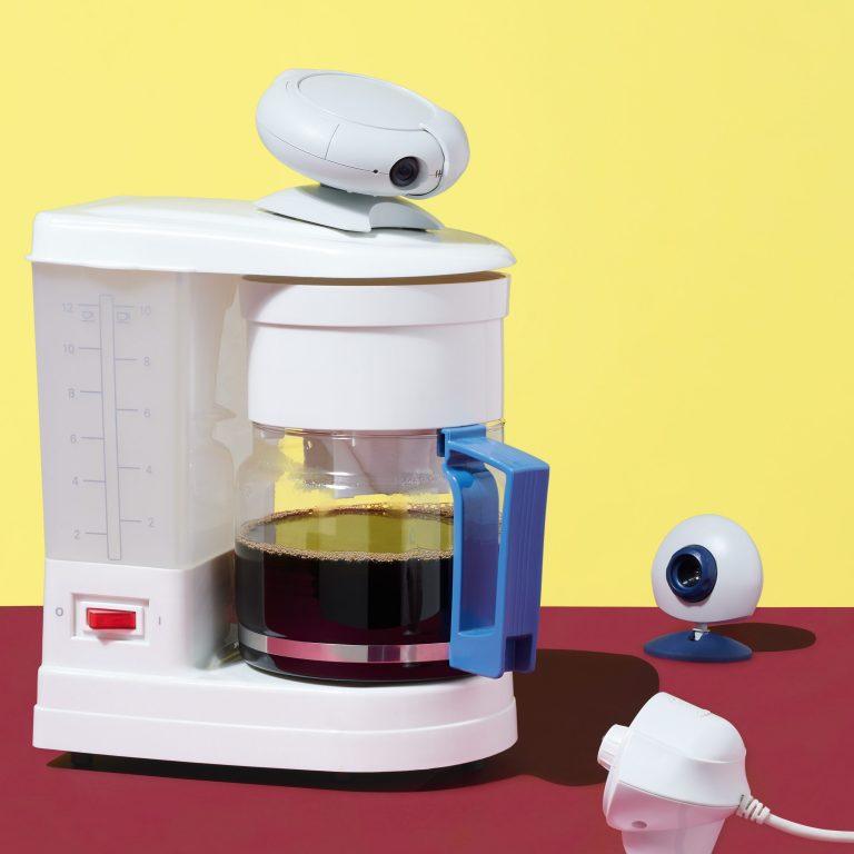 Coffee machine webcam