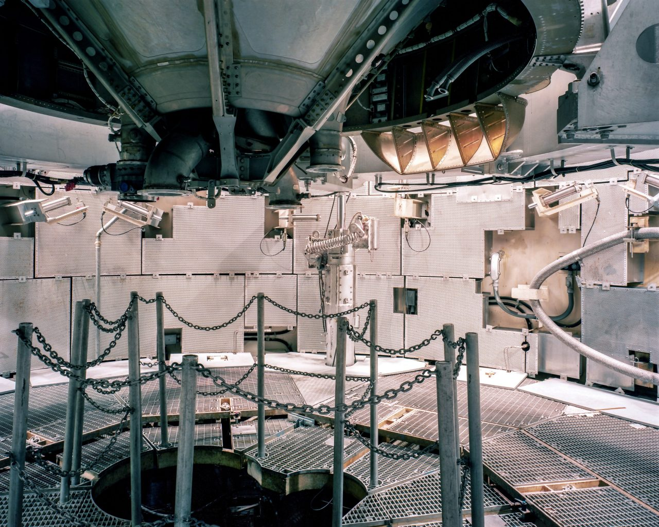 First-stage engine of a Titan II intercontinental ballistic missile as seen